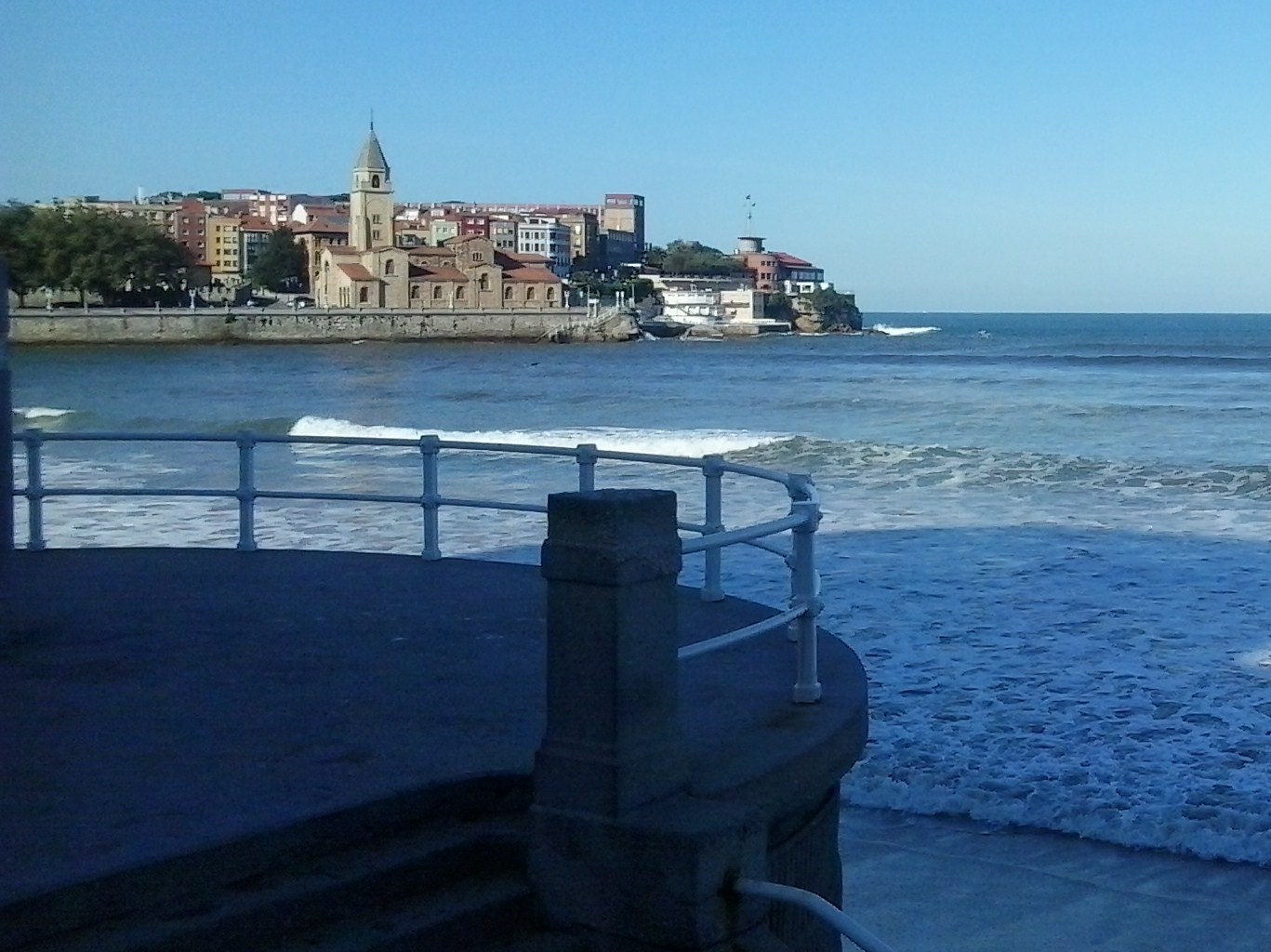 Gijón: The oldest part of Gijón from el Muro. A walk along San Lorenzo is heaven at any time of the day.