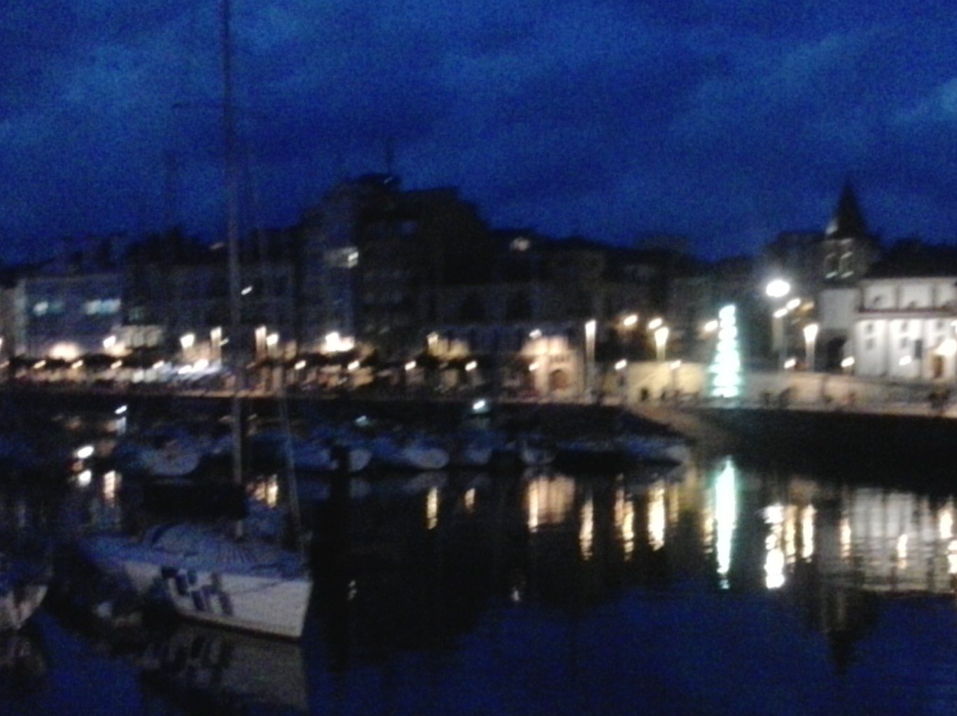 Gijón: Cimavilla at night. The pintos aren't quite Bilbao, Logroño, or Pamplona, but the sidra is better.