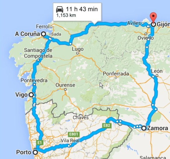 Map Of North West Spain.Adventures In Northern Spain Part I The Northwest Asturias
